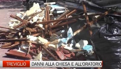 Maltempo a Treviglio, i danni piu' grossi a chiesa e oratorio