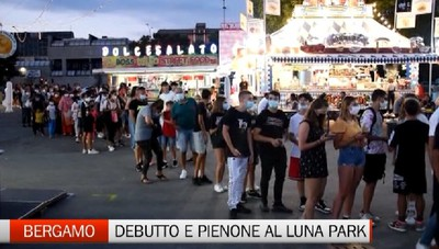 Bergamo, pienone al debutto del Luna Park in Celadina