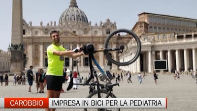 Carobbio degli Angeli, in bicicletta fino a Roma per gli Amici della Pediatria