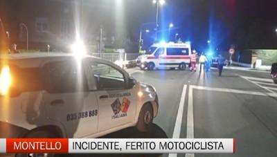 Montello, incidente stradale: ferito motociclista