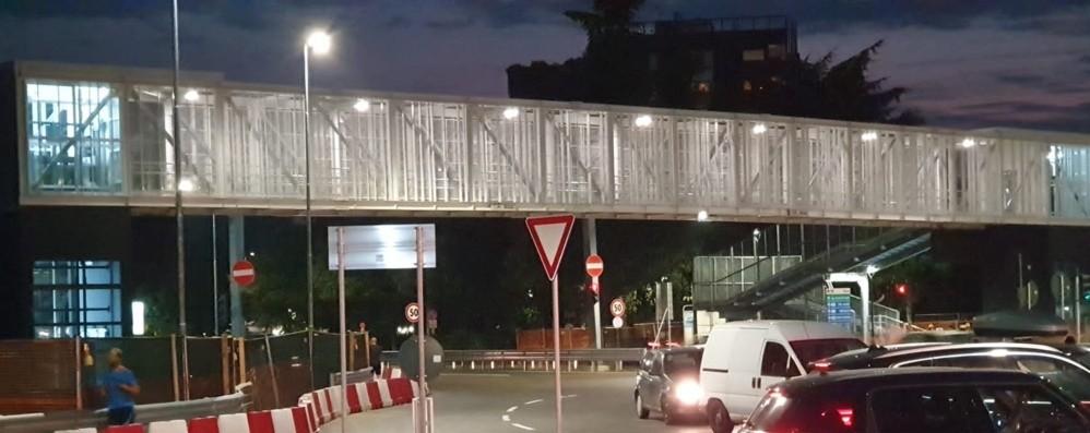 Bergamo, aperta la passerella che collega i quartieri di Malpensata e Campagnola