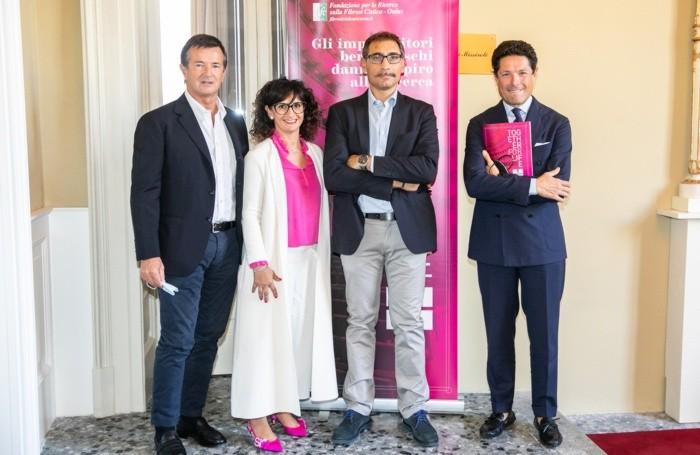 Da sinistra, Gori, Piazzalunga, Rizzi e Marzotto