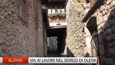 Alzano, pavimentazione in pietra nel borgo di Olera
