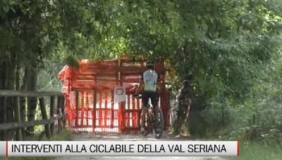 Val Seriana, gli interventi per sistemare la pista ciclopedonale