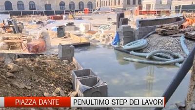 Piazza Dante, penultimo step di lavori all'ex diurno