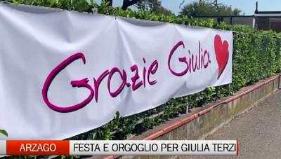 Arzago d'Adda, festa e orgoglio per la paralimpica Giulia Terzi