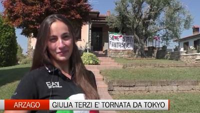 Arzago d'Adda, il ritorno di Giulia Terzi dalle Paralimpiadi