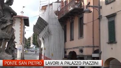 Ponte San Pietro, i lavori di recupero di Palazzo Piazzini