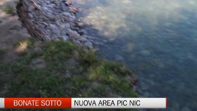 Sarà rifatta l'area pic nic di Bonate Sotto rubata da fiume Brembo