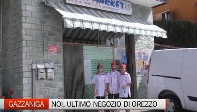 Gazzaniga, l'ultimo negozio di Orezzo