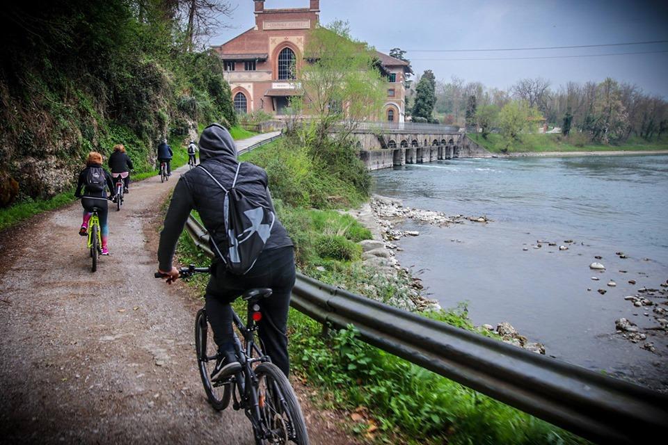 Biciclettata di Leonardo sull'Adda