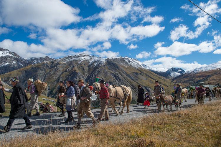Alpen fest a Livigno, si celebra la transumanza