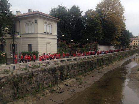 Camminata in rosso a Monza