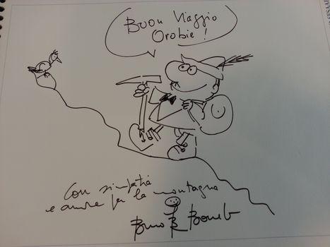 Un grande regista e cartoonist a Orobie