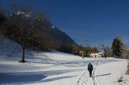 In inverno al rifugio Giovanni Riva