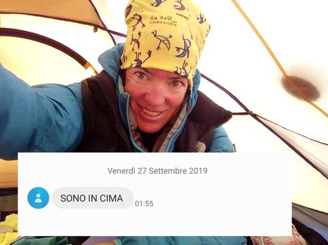 Cristina Piolini in vetta al Manaslu, ora la discesa con gli sci