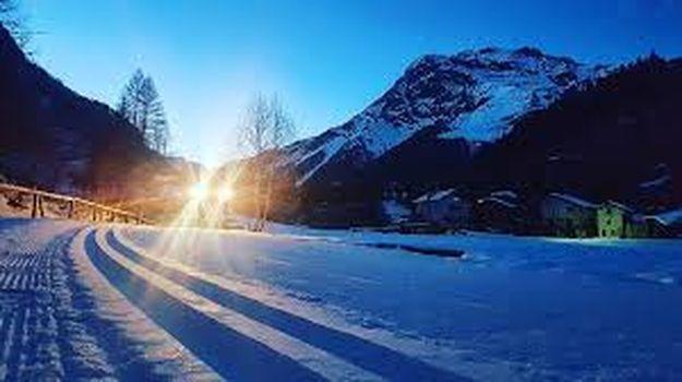 In Valmalenco una serata sugli sci di fondo