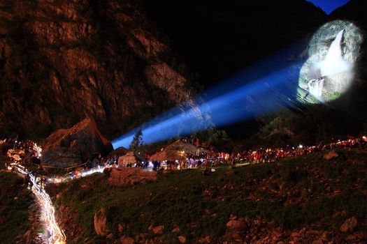 Cascate del Serio in notturna