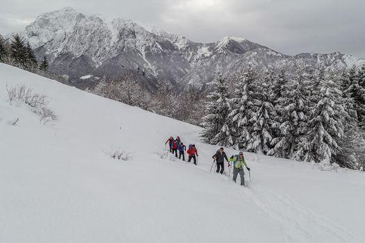 Scialpinistica sul cimone di Margno