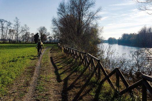 In bici con Baronchelli lungo l'Adda