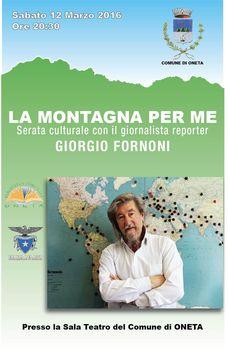 GIORGIO FORNONI RACCONTA LE SUE MONTAGNE