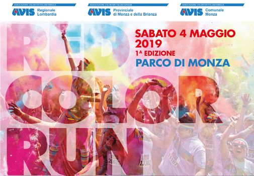 A Monza la Red Color Run pensando ad Amatrice