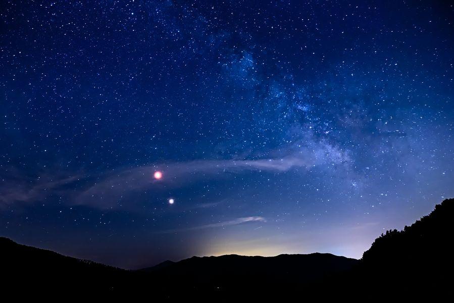 La Luna e le stelle al rifugio Sev