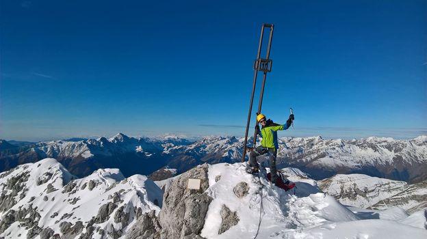 07.12.2018: Presolana Occidentale (2521 m), via Normale Invernale canalino di sx